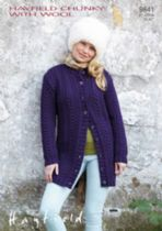 Hayfield Chunky with Wool - 9841 Jacket Knitting Pattern